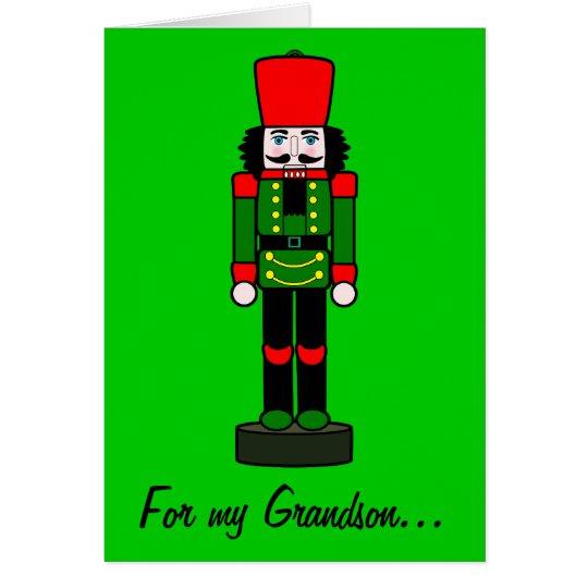 Nutcracker Christmas Card for a Grandson