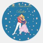 nutcracker-clara & her prince round stickers