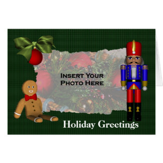 Nutcracker Cookie Christmas Holiday Photo Card