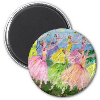 Nutcracker Dance of the Flowers 6 Cm Round Magnet
