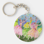 Nutcracker Dance of the Flowers Basic Round Button Key Ring