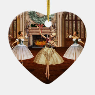 Nutcracker - Feliz Navidad Spanish Heart Ornament