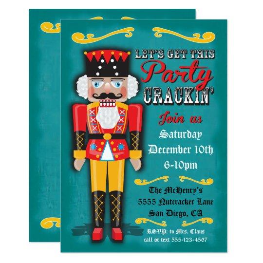 nutcracker holiday christmas party invitation