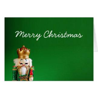 Nutcracker Merry Christmas Card