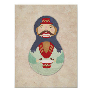 Nutcracker poster, Russian doll, babushka