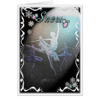Nutcracker Snow Scene-324 Greeting Card