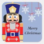 Nutcracker Snowflake Christmas Stickers