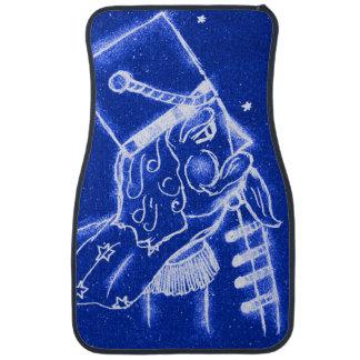 NUTCRACKER TOY SOLDIER in Bright Blue Floor Mat
