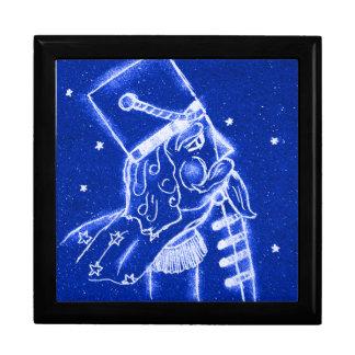 NUTCRACKER TOY SOLDIER in Bright Blue Gift Box