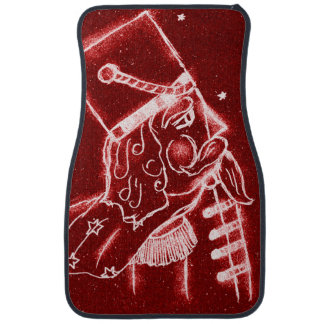 Nutcracker Toy Soldier in Bright Red Car Mat
