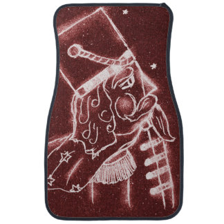 NUTCRACKER TOY SOLDIER in Cranberry Red Floor Mat