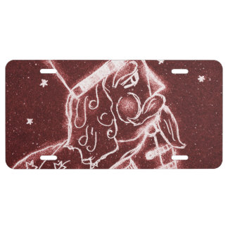 NUTCRACKER TOY SOLDIER in Cranberry Red License Plate