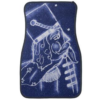 Nutcracker Toy Soldier in Light Blue Car Mat