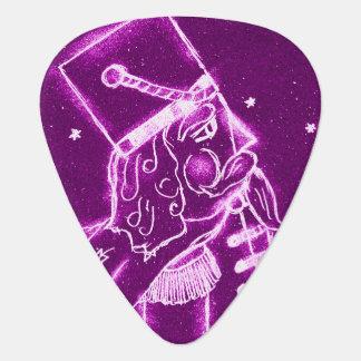 Nutcracker Toy Soldier in Magenta Guitar Pick