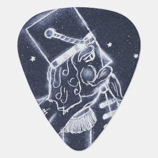 Nutcracker Toy Soldier in Medium Blue Guitar Pick