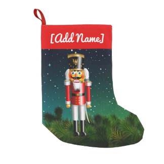 Nutcracker Toy Soldier In Red Uniform Small Christmas Stocking