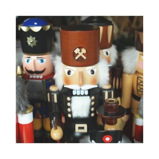 Nutcrackers Christmas Holiday Xmas Design Stretched Canvas Print
