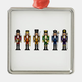 Nutcrackers in Rainbow Colors Christmas Ornament