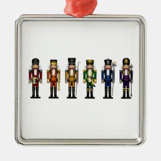 Nutcrackers in Rainbow Colors Christmas Ornament