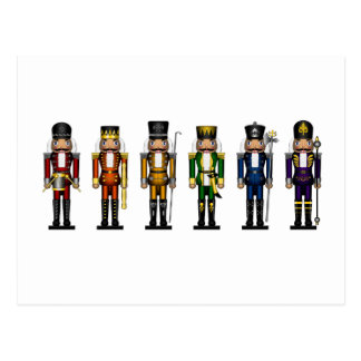 Nutcrackers in Rainbow Colors Postcard