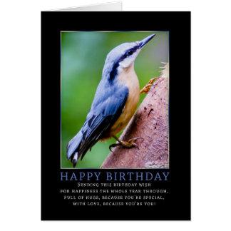 Nuthatch Birthday Greeting Card
