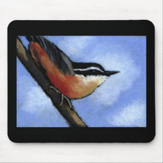 NUTHATCH IN OIL PASTEL: MOUSEPAD