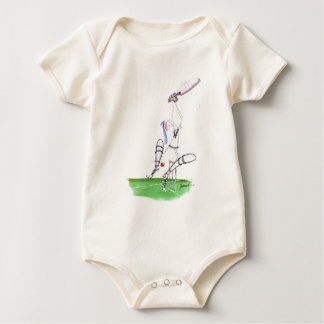 nutmeg - cricket, tony fernandes baby bodysuit