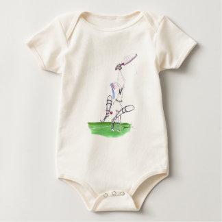 nutmeg - cricket, tony fernandes baby bodysuit