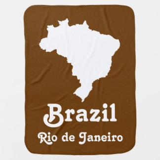 Nutmeg Festive Brazil with custom text Buggy Blanket