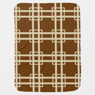 Nutmeg Spice Moods Lattice Swaddle Blankets
