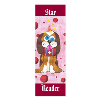 Nutmeg the dog (Star Reader) mini bookmarks Pack Of Skinny Business Cards