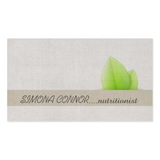 Nutrition Coach Green Leaf Linen Business Card