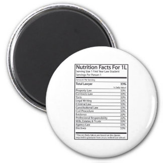 Nutrition Facts For 1L 6 Cm Round Magnet