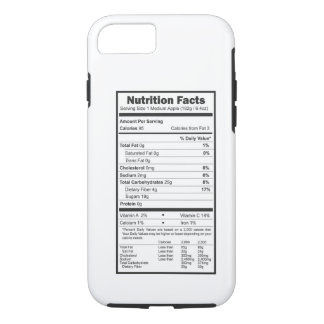 nutrition facts iPhone 7 case