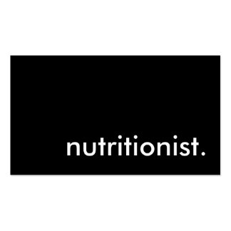 nutritionist business card templates