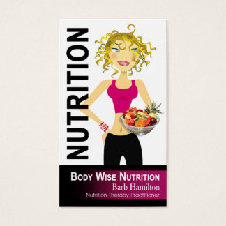 Nutritionist - custom order business card