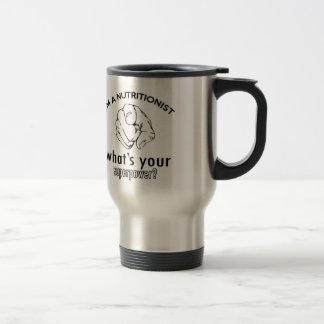 nutritionist design stainless steel travel mug