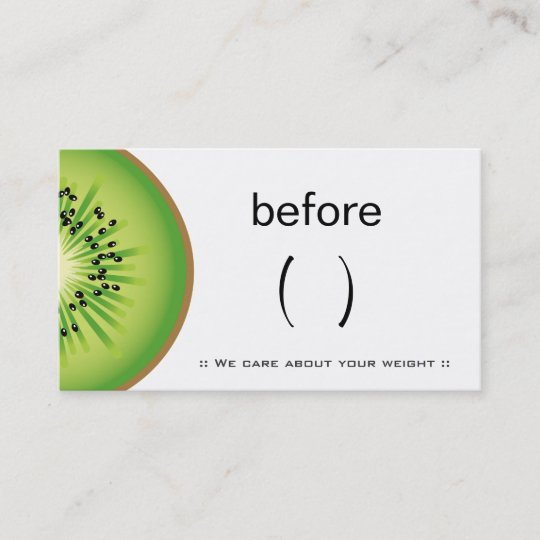 Nutritionist Dietician Nutrition Coach Weight Loss Business Card