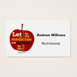 Nutritionist Dietitian business card