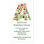 Nutritionist Monogram A Appointment Business Card