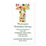 Nutritionist Monogram T Appointment Business Card