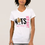 Nuts About Being A New Aunt 1 Pink Tshirt