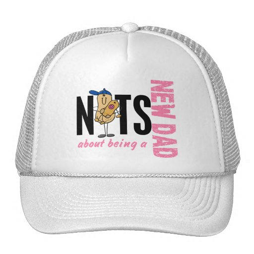 Nuts About Being A New Dad 1 (Pink) Mesh Hats