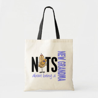 Nuts About Being A New Grandma 1 Blue Budget Tote Bag