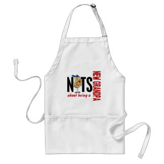 Nuts About Being A New Grandpa 1 Red Standard Apron