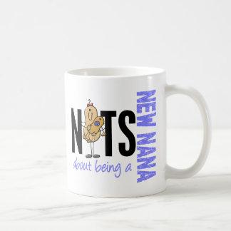Nuts About Being A New Nana 1 Blue Basic White Mug