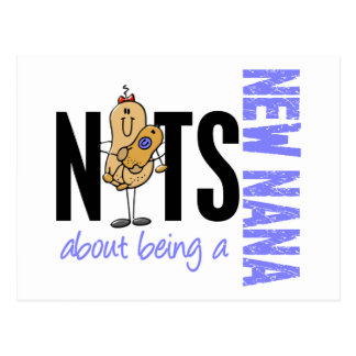 Nuts About Being A New Nana 1 Blue Postcards
