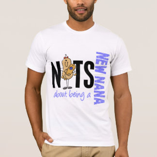 Nuts About Being A New Nana 1 Blue T-Shirt