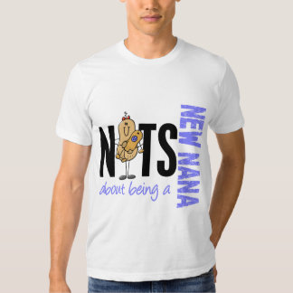 Nuts About Being A New Nana 1 Blue T Shirts