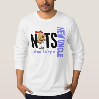 Nuts About Being A New Uncle 1 Blue Tee Shirts